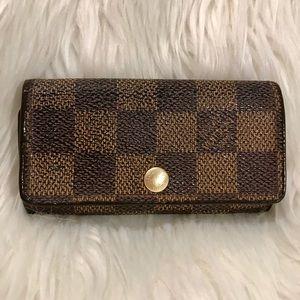 5cbdfeaffe96 ... Authentic Louis Vuitton Damier Ebene 4 Key Holder Vintage Louis Vuitton  Monogram Sarah Long Wallet